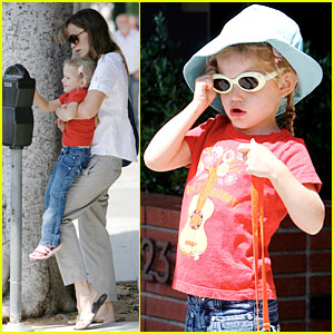 Violet Affleck is Sunglasses Silly