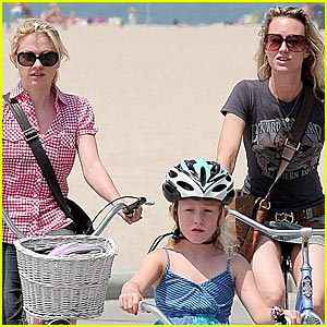Anna Paquin Bikes With Fiance's Ex