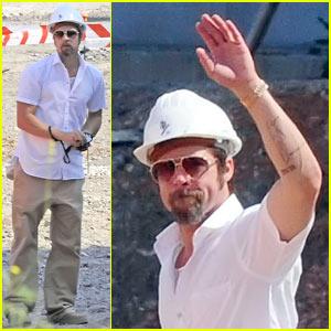 Brad Pitt: Hard Hat Hottie