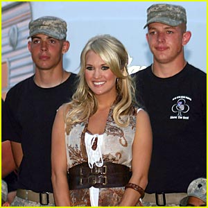 Carrie Underwood Salutes The Troops