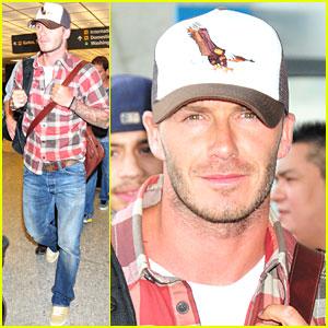 David Beckham is Plaid Perfect
