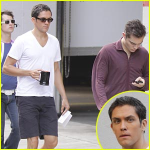 Ed Westwick Prepares Gay Kiss with Neal Bledsoe