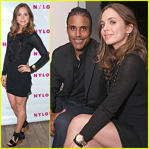 Eliza Dushku & Rick Fox Nuzzle Up At Nylon