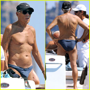Giorgio Armani Gets Shirtless in a Speedo