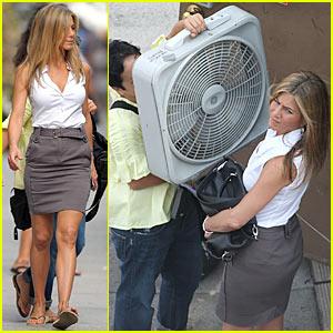 Jennifer Aniston Cools Down With Floor Fan
