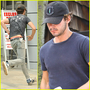 Shia LaBeouf: Shoe Slippage!