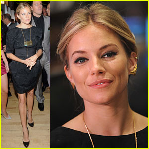 Sienna Miller Wears Gold Earwings