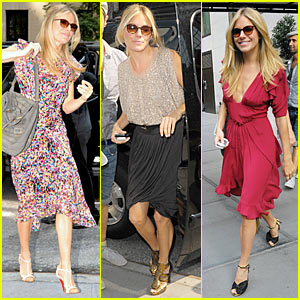 Sienna Miller: 3 Outfit Changes, 1 Morning
