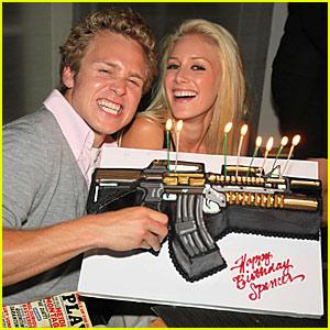 Spencer Pratt: Machine Gun Birthday Cake!