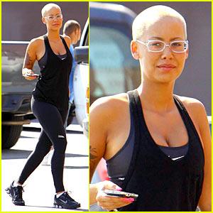 Amber Rose: Nike's Bald Beauty
