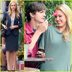 Ashton Kutcher Puts His Tu-lips on Jessica Alba!