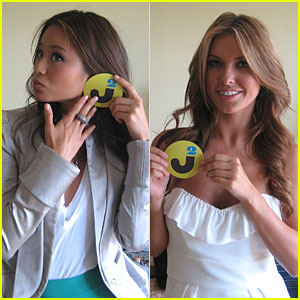 Audrina Patridge & Jamie Chung Interview - JustJared.com Exclusive