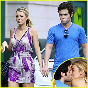 Blake Lively & Penn Badgley: Cafeteria Couple