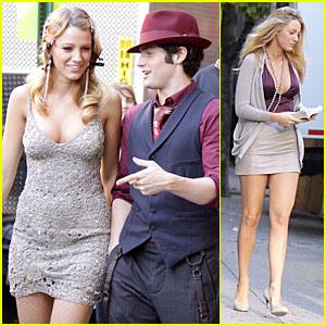 Blake Lively & Penn Badgley Gate Up Gossip Girl