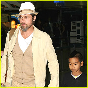 Brad Pitt & Maddox: Just the Two of Us!