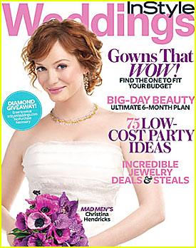 Christina Hendricks Covers InStyle Weddings