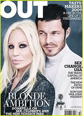 Donatella Versace & Paul Sculfor Cover Out Magazine