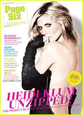 Heidi Klum Bares Her Back