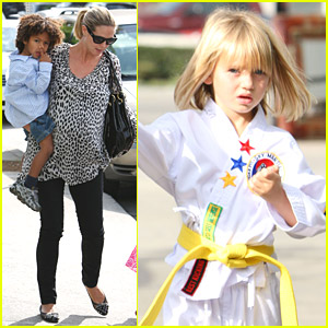 Heidi Klum Has Karate Kids