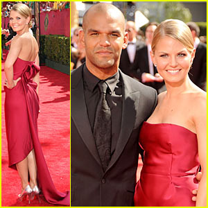 Jennifer Morrison - Emmy Awards 2009 with Amaury Nolasco