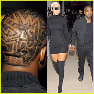 Kanye West Debuts Etch-a-Sketch Hair
