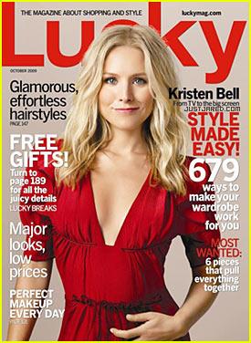 Kristen Bell Covers Lucky Magazine October 2009