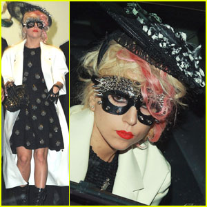 Lady Gaga is Masked At Marc Jacobs