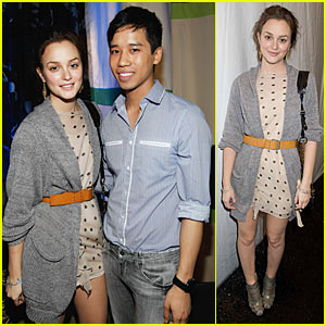 Leighton Meester Interview -- JustJared.com Exclusive