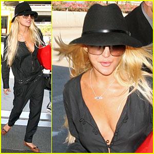Lindsay Lohan: Jumpsuit Joy