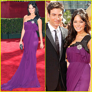 Lindsay Price - Emmy Awards 2009 With Josh Radnor