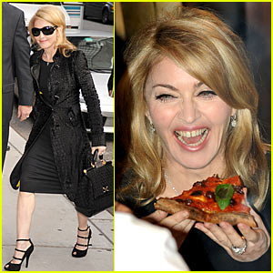 Madonna Downs Pizza with David Letterman