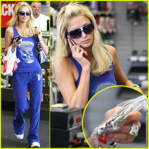 Paris Hilton Rocks Ziploc Bag Wallet