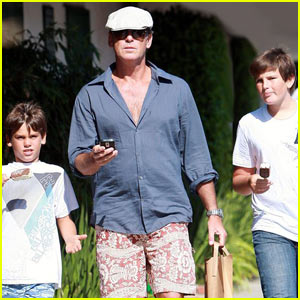 Pierce Brosnan & Sons: Malibu Country Mart!