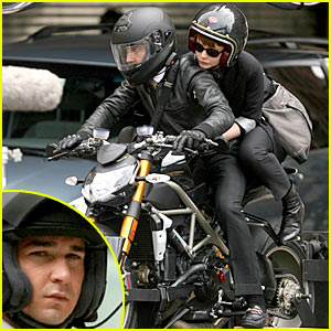 Shia LaBeouf & Carey Mulligan: Motorcycle Meet-Up