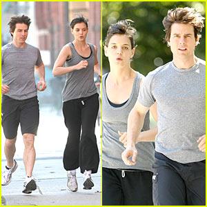 Tom Cruise & Katie Holmes: Jogging Buddies