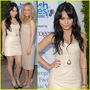 Vanessa Hudgens & Hayden Panettiere: Fresh Faces Music Benefit!
