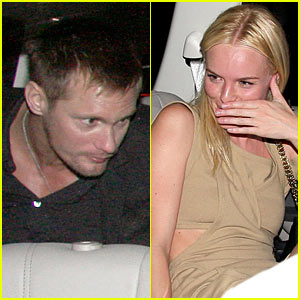Alexander Skarsgard & Kate Bosworth Scream Car Couple