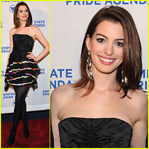 Anne Hathaway Flaunts Empire State Pride