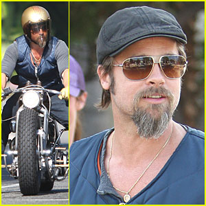 Brad Pitt Gets Into a Fender Bender