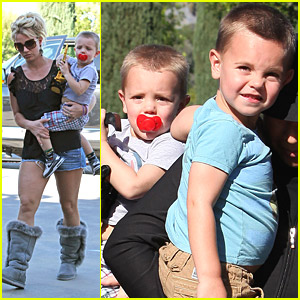 Britney Spears' Sons Check out 'Astroboy'