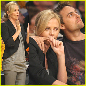 Charlize Theron & Stuart Townsend Love The Lakers
