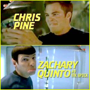 Chris Pine & Zachary Quinto: Star Trek Gag Reel!