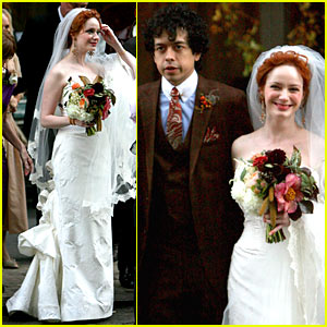 Christina Hendricks' Wedding Pictures -- FIRST LOOK