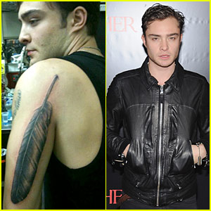 Ed Westwick: Feather Tattoo Explained!