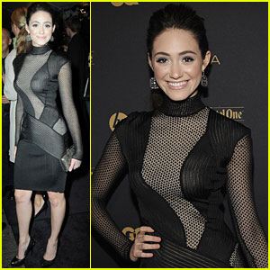 Emmy Rossum is Ferragamo Foxy