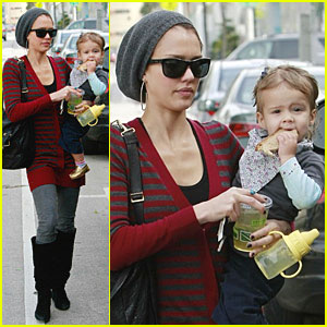 Jessica Alba & Honor Warren Drink Their Juice