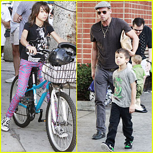 Justin Chambers Takes His Kids Out for A Spin