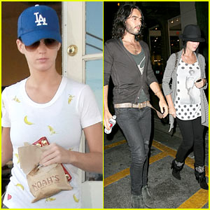 Katy Perry & Russell Brand Groove at the Grove