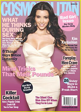 Kim Kardashian Covers 'Cosmopolitan' November 2009