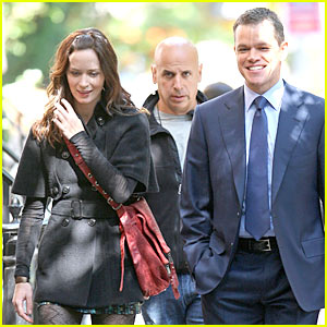 Matt Damon & Emily Blunt: 'Adjustment Bureau' Begins!